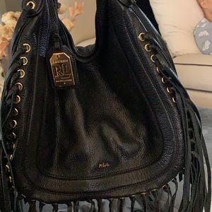 Ralph Lauren RRL  Fringe Leather Handbag